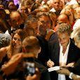 Renaud Muselier, Nicolas Sarkozy - Carla Bruni-Sarkozy en concert au théâtre de Verdure du Grand Jardin à Le Lavandou le 23 juillet 2019. © Dominique Jacovides-Cyril Moreau/Bestimage