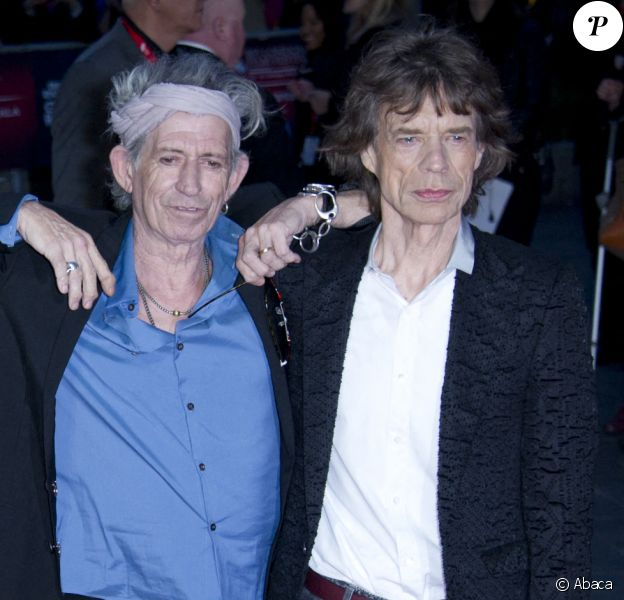 Charlie Watts, Ronnie Wood, Keith Richards et Mick Jagger à Londres en octobre 2015.