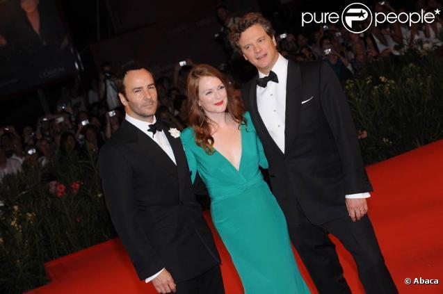 Tom Ford, Julianne Moore et Colin Firth, à la 66e Mostra de Venise, le 12 septembre 2009 !