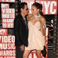 MTV Video Music Awards 2009, le 13 septembre à New York : Jennifer Lopez et son mari Marc Anthony. J-Lo a annoncé la sortie prochaine de son nouvel album.