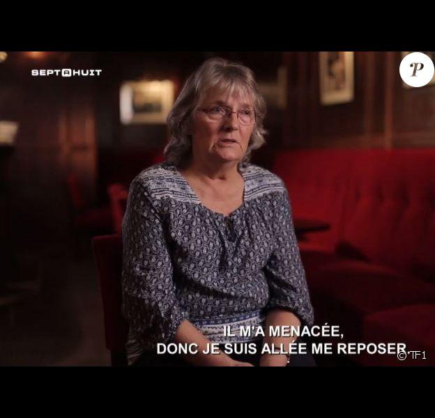 """Jacqueline Saubage lors de son interview dans """"Sept à huit"""", sur TF1, en février 2017."""