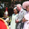 Doria Ragland, le prince Charles, prince de Galles et Camilla Parker Bowles, duchesse de Cornouailles - Les invités à la sortie de la chapelle St. George au château de Windsor, Royaume Uni, le 19 mai 2018.