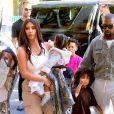 Kim Kardashian et Kanye West vont au Sunday Service du rappeur avec leurs enfants, le 29 septembre 2019.