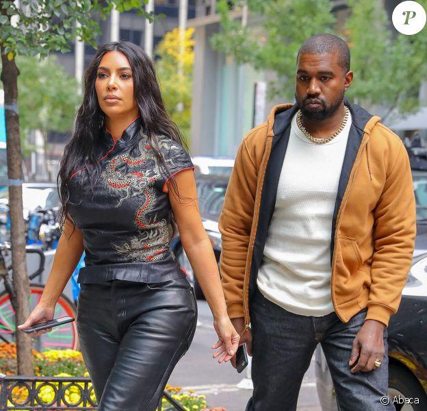 Kim Kardashian et Kanye West vont déjeuner au Milos, à New York, le 25 octobre 2019.