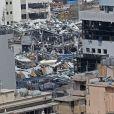 Illustration de Beyrouth dévastée, après les deux explosions survenues dans le port de la ville le 4 août, et ayant plus de 130 morts et 5000 blessés. Le 6 août 2020 © Imago / Panoramic / Bestimage