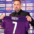 Franck Ribéry lors de sa présentation officielle à Florence le 22 août 2019. Photo by Claudio Giovannini/Ansa/ABACAPRESS.COM