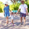 Julia Paredes, sa fille Luna et Maxime, le 6 juillet 2020