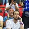 Florian Dariel , le compagnon d'Eugenie Le Sommer dans les tribunes lors de la coupe du monde féminine de football, Groupe A, France vs Nigeria à Rennes, France, le 17 juin 2019. La France a gagné 1-0. © Pierre Perusseau/Bestimage