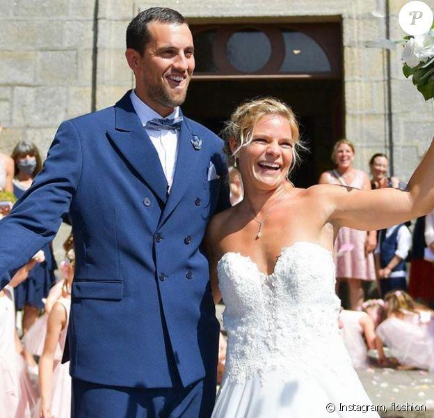 Eugénie Le Sommer s'est mariée à Florian Dariel le 11 août 2020 à Ploemeur (Finistère).