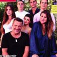 """Benjamin Castaldi, sa femme Aurore et leurs enfants respectifs font la couverture du """"Gala"""". Août 2020."""