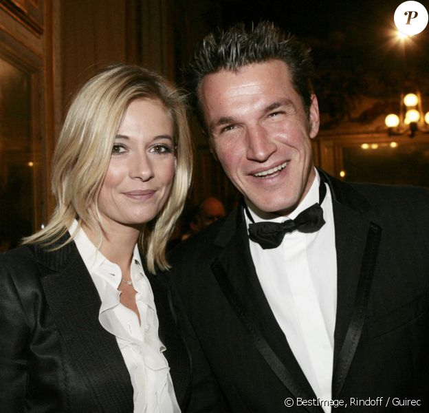 Benjamin Castaldi et Flavie Flament en 2006 - Soirée organisée au château de Versailles au profit de la recherche contre le cancer.