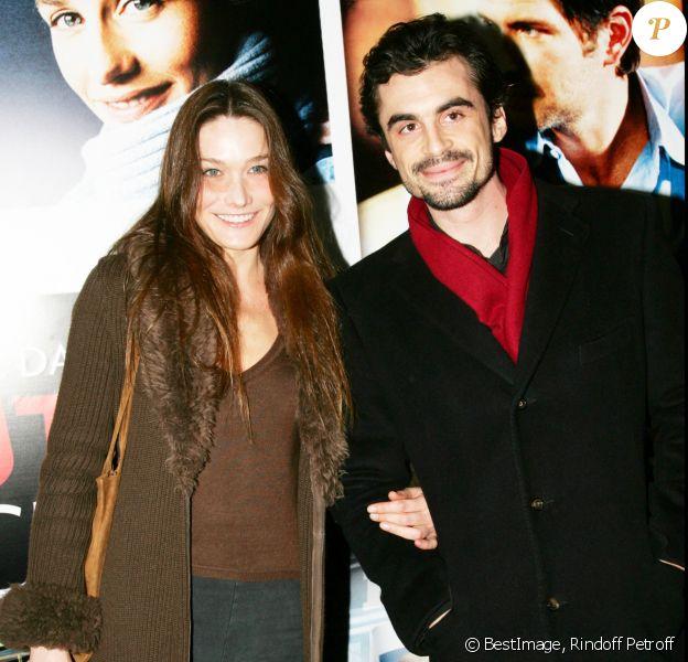 Carla Bruni et Rapahel Enthoven - Avant-première de Fauteuil d'orchestre, à Paris, en février 2006