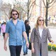 Exclusif - Dianna Agron et son mari Winston Marshall se baladent en amoureux dans les rues de New York, le 8 avril 2019. @Backgrid USA / Bestimage