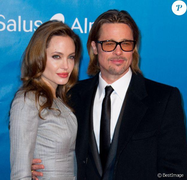 "Brad Pitt et Angelina Jolie à la soirée de ""Gala : Cinema for Peace"", à Berlin."