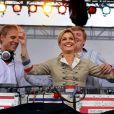 Maxima des Pays-Bas et son mari Willem-Alexander lors de leur visite commémorative de cinq jours (8-13 septembre 2009) à New York