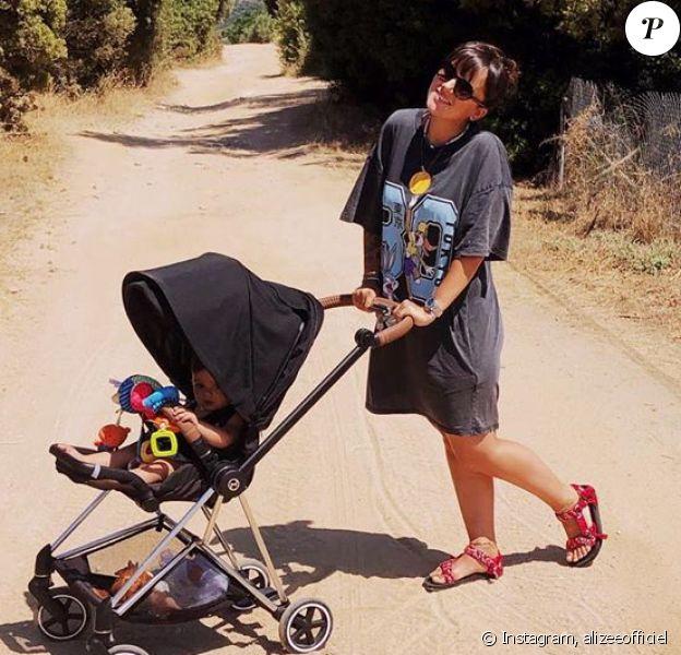 Alizée et sa fille Maggy sur Instagram, le 19 juillet 2020.