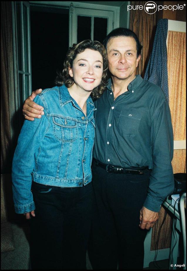 Roland Giraud et sa fille Géraldine, en 1998