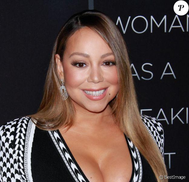 """Mariah Carey lors de la première du film """"A Fall From Grace? au cinéma Metrograph à New York City, New York, etats-Unis, le 13 janvier 2020."""