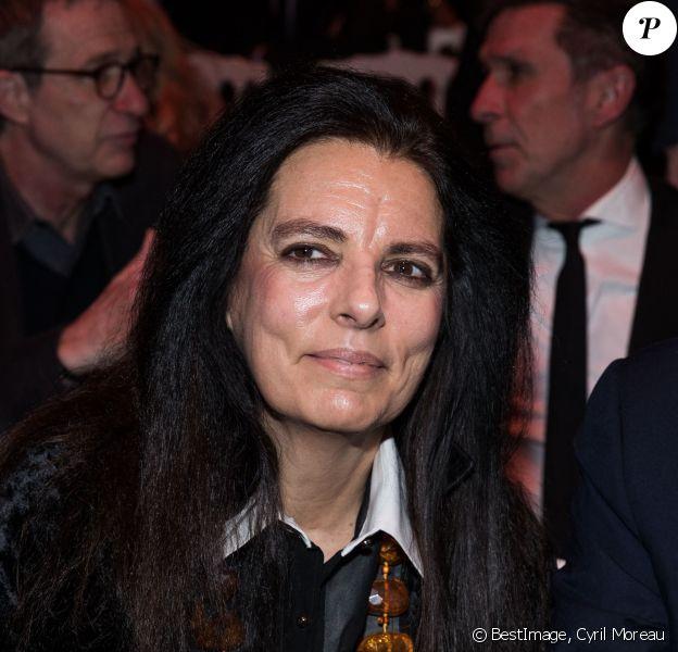 """Françoise Bettencourt-Meyers au front row du 110ème anniversaire de l'Oréal Professionnel """"La French - Art Of Hair Coloring au Carrousel du Louvre à Paris, France © Cyril Moreau/Bestimage"""