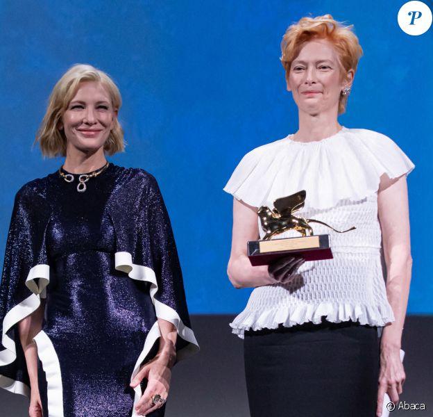 Tilda Swinton et Cate Blanchett - Cérémonie d'ouverture de la Mostra de Venise, septembre 2020.
