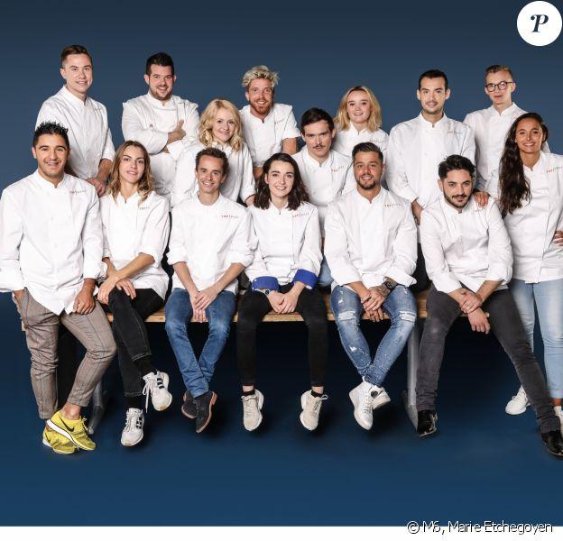 """Les 15 candidats de """"Top Chef 2019""""."""