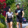 Exclusif - Camila Mendes se rend avec un ami à un rendez-vous médical dans le quartier de West Hollywood à Los Angeles pendant l'épidémie de coronavirus (Covid-19), le 13 août 2020