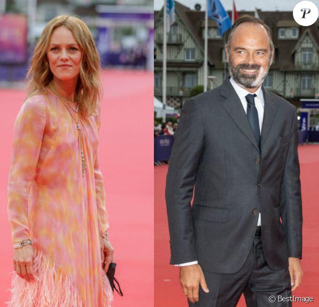 Vanessa Paradis et Edouard Philippe lors de l'ouverture du 46e festival du film américain de Deauville.
