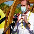 Christian Prudhomme, le directeur du Tour de France, durant l'inauguration du Fan Park, en mode prévention du coronavirus (Covid-19), lors du Tour de France 2020 installé sur la Coulée Verte à Nice le 27 août 2020.