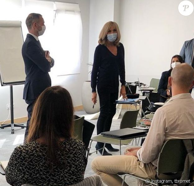 Brigitte Macron a fait sa rentrée à Clichy-sous-Bois, dans l'une des écoles LIVE, association qu'elle préside.