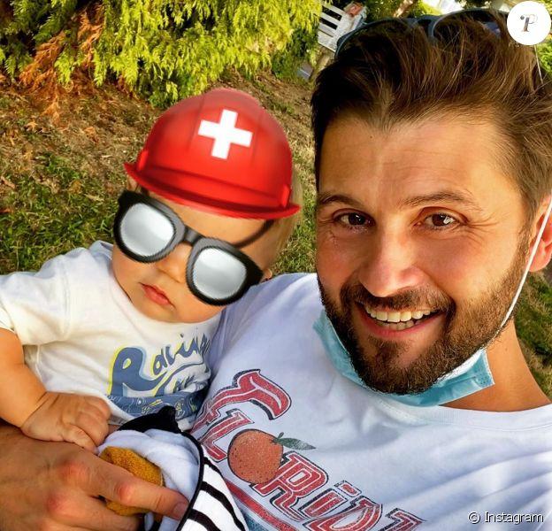 Christophe Beaugrand et son fils Valentin sur Instagram.
