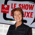 """Exclusif - Véronique Genest participe à l'émission """"Le show de Luxe"""" sur la radio Voltage à Paris le 8 octobre 2018. © Philippe Baldini/bestimage"""