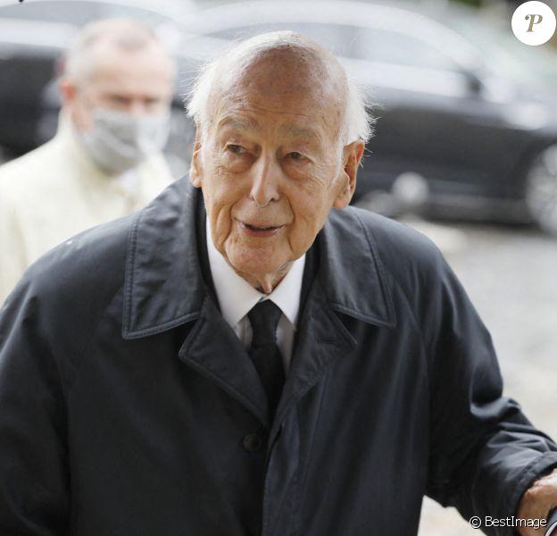 Valéry Giscard d'Estaing - Obsèques de l'académicien Marc Fumaroli en l'église Saint-Germain-des-Près à Paris. 2020