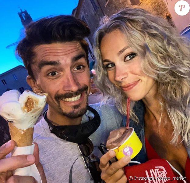 Julian Alaphilippe, arrivé deuxième de la 111e édition de Milan-San Remo, a retrouvé sa compagne Marion Rousse après la course. Le couple n'a pas résisté aux glaces italiennes.