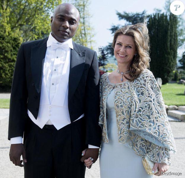 Shaman Durek, la princesse Martha Louise de Norvège - Mariage de la princesse Alexandra de Sayn-Wittgenstein-Berleburg avec le comte danois Michael Preben Ahlefeldt-Laurvig-Bille à Svendborg au Danemark le 18 mai 2019.
