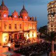 La famille princière de Monaco assiste à un concert en plein air sur la Place du Casino de Monaco, le 19 septembre 2020.