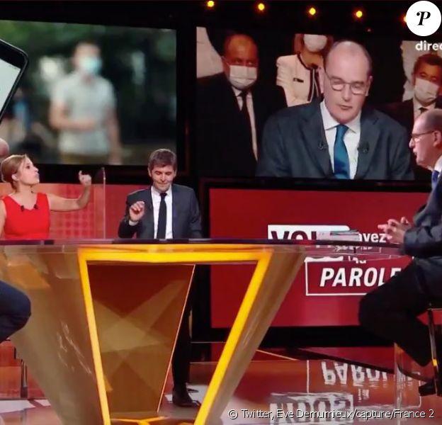 Jean Castex sur le plateau de Vous avez la parole sur France face à Léa Salamé
