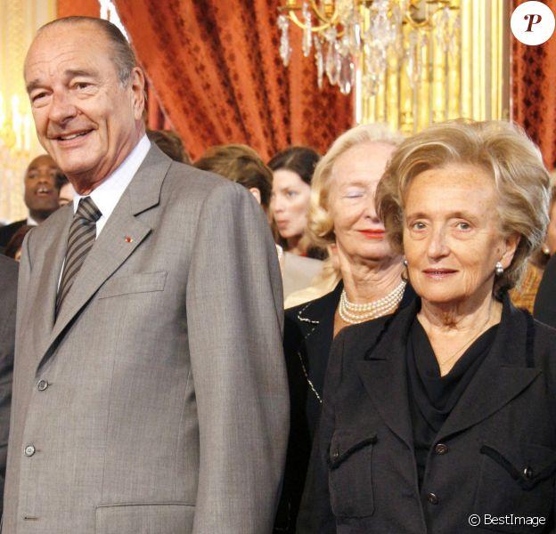 Jacques et Bernadette Chirac - Palais de l'Élysée.