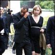 Adel Kachermi et sa femme aux obsèques de Filip Nikolic, à Sainte-Geneviève-des-Bois, dans l'Essonne. 24/09/09