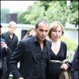 Adel et son épouse, enceinte, aux obsèques de Filip Nikolic, à Sainte-Geneviève-des-Bois, dans l'Essonne. 24/09/09