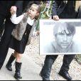 Sasha, 4 ans et demi, aux obsèques de Filip Nikolic, à Sainte-Geneviève-des-Bois, dans l'Essonne. 24/09/09