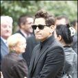 Lionel Tim assiste aux obsèques de Filip Nikolic, le 24 septembre 2009.