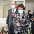 Visite du Mobilier National pour les Journées européennes du patrimoine en présence du Premier ministre Jean Castex et Roselyne Bachelot Ministre de la Culture à Paris le 19 septembre 2020. Ils sont masqués lors de l'épidémie de Coronavirus (COVID-19).