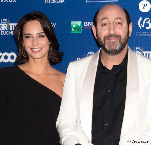 Kad Merad et sa compagne Julia Vignali - 6ème édition de la cérémonie des Magritte du cinéma à Bruxelles en Belgique