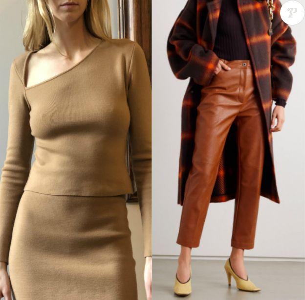 """Le top Victor Glemaud et le pantalon Stella McCartney (Net-à-Porter) de Meghan Markle, vus le 1er octobre 2020 dans une interview pour le journal anglais """"Evening Standard""""."""