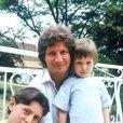 Patrick Sébastien et ses deux fils: Olivier et Sébastien (mars 1988)