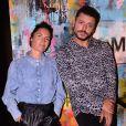 Exclusif - Alessandra Sublet et Kev Adams lors de la soirée de lancement du Fridge, le nouveau comedy club de Kev Adams à Paris le 24 septembre 2020. © Rachid Bellak / Bestimage