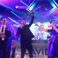 David Guetta reçoit un prix d'honneur lors des NRJ DJ Awards au MICS (Monaco International Clubbing Show) à Monaco le 6 novembre 2019. © Cyril Dodergny/Nice- Matin/Bestimage