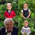 Prince George, Princess Charlotte, Prince Louis - David Attenborough répond aux questions de fans célèbres, dont le prince George, la princesse Charlotte et le prince Louis, au Royaume Uni, le 3 octobre 2020.