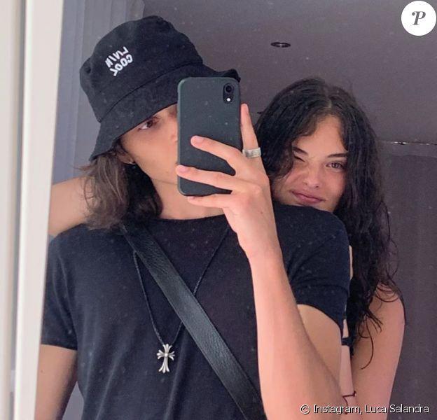 Deva Cassel (la fille de Vincent Cassel et Monica Bellucci) et son petit ami Luca Salandra.