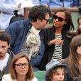 Karine Le Marchand et sa fille Alya, Stéphane Plaza aux Internationaux de France de tennis de Roland Garros à Paris, le 29 mai 2014.